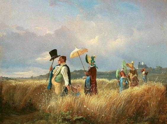 Carl Spitzweg - The Sunday walk