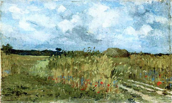 Ion Andreescu - Flowering field