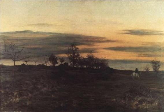 Ion Andreescu - Calaret in amurg