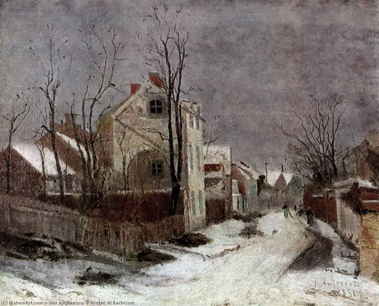 Ion Andreescu - Winter at Barbizon