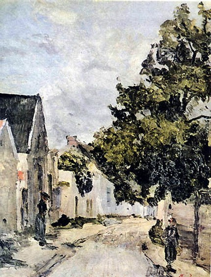 Ion Andreescu - Street from Barbizon during summer time