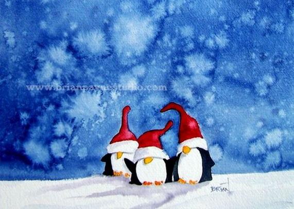 Penguin Trio by bpayne45