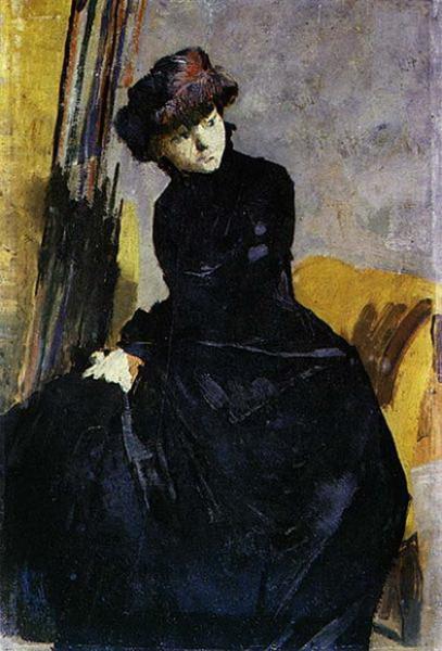 Henrique Pousao - senhora vestida de negro