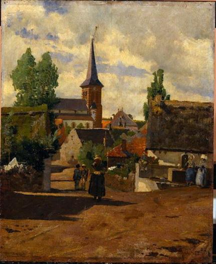 Henrique Pousao - Aldeia de Saint-Sauves