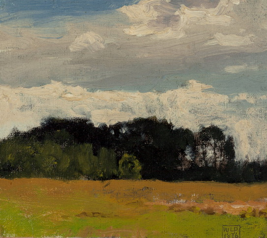 Edward  Simmons - Landscape with Trees in the Distance
