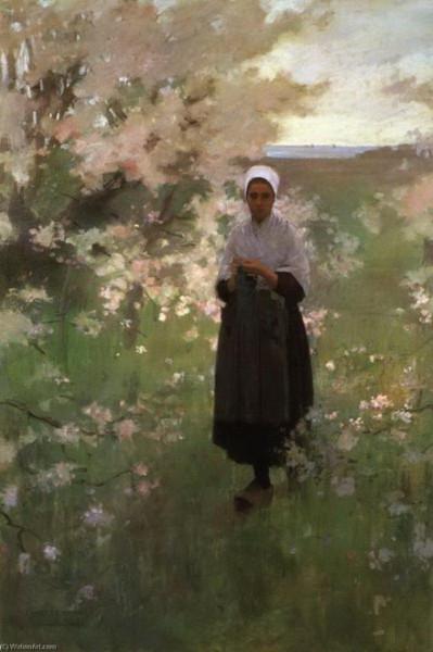 Edward  Simmons -  Le printemps