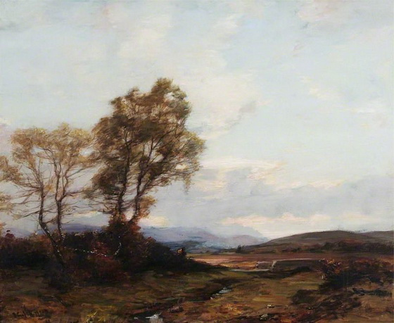 James Campbell Noble - Looking up Strathspey, Highlands