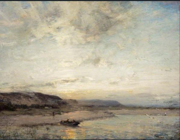 James Campbell Noble - Sunset near Glencaple