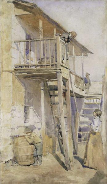 Julian Rossi Ashton - Back of old house
