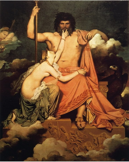 Jean Auguste Ingres - Jupiter and Thetis