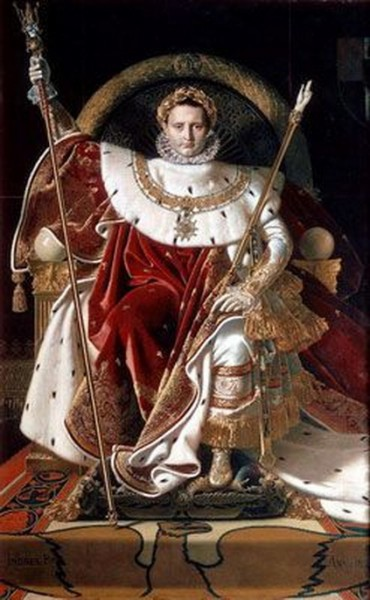 Jean Auguste Ingres - Napoleon on his Imperial Throne