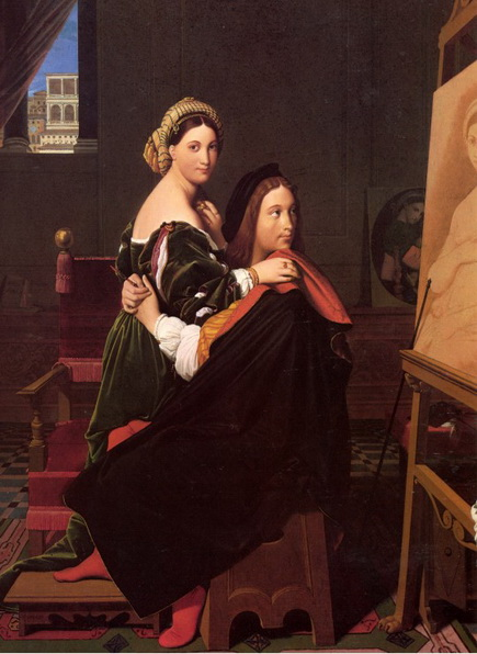 Jean Auguste Ingres - Raphael and the Fornarina