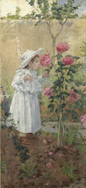 Niccolo Cannicci - bimba tra le rose