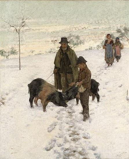 Niccolo Cannicci - In inverno firmato