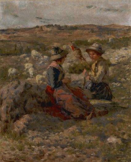 Niccolo Cannicci - Pastorelle che filano