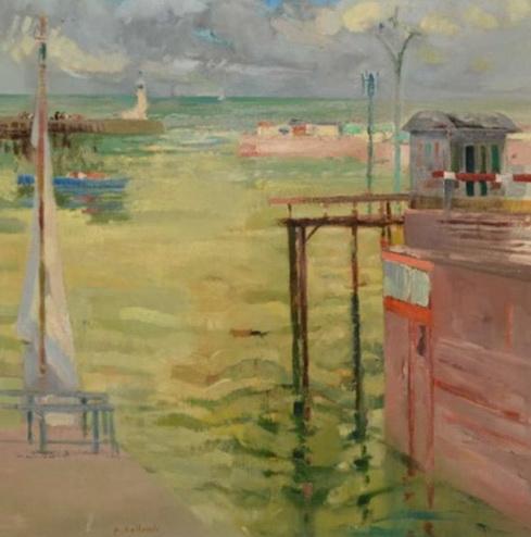 Paul Collomb - Le Treport, la sortie du port