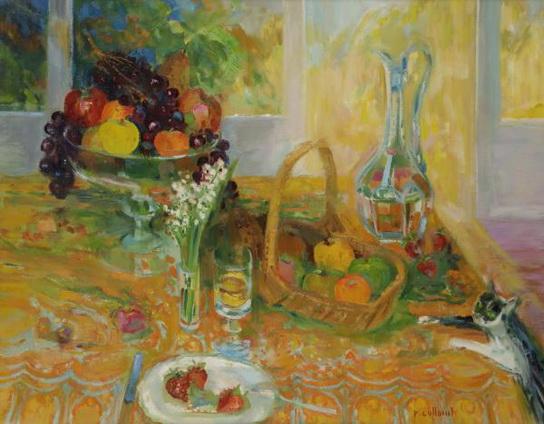 Paul Collomb - Table devant la fenetre