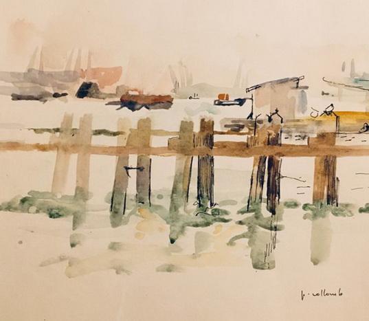 Paul Collomb - Ponton sur le Golfe du Morbilhan