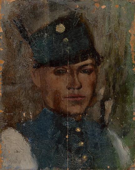 Ladislav Mednansky - studia hlavy vojaka