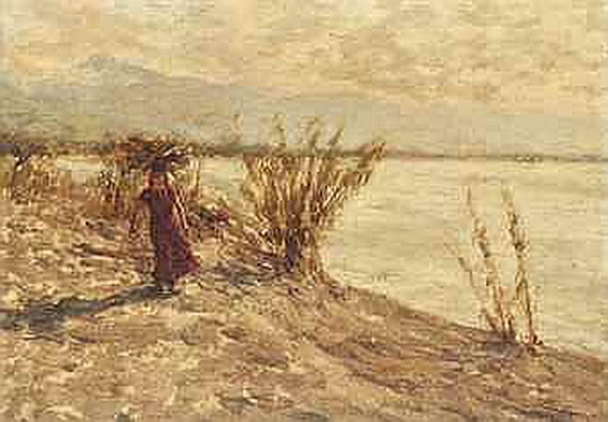 Henry Herbert La Thangue - Windswept walk