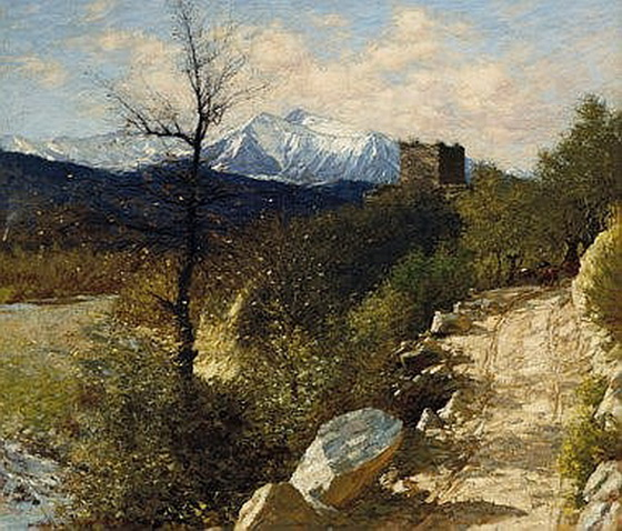 Henry Herbert La Thangue - Early snows
