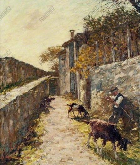 Henry Herbert La Thangue - On the Ramparts