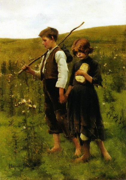 Marianne Stokes - On the Way to the Fields