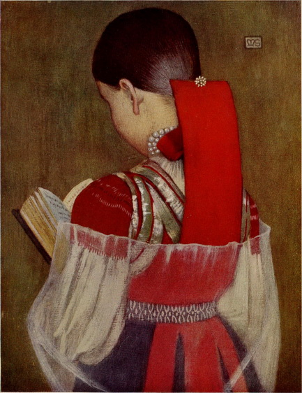 Marianne Stokes - Young Girl of Zsdjar in Sunday