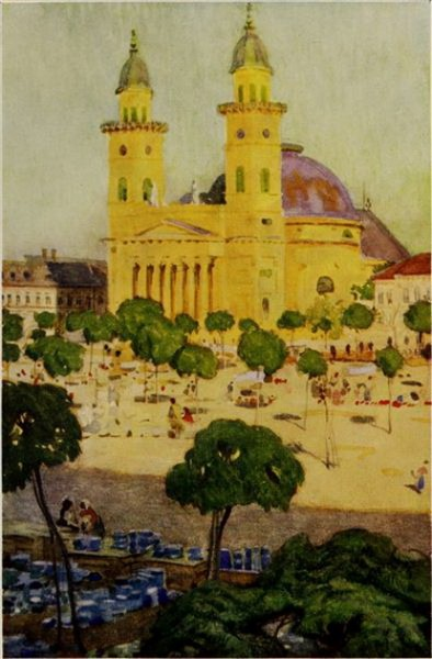 Marianne Stokes - The cathedral and square, Szatmar