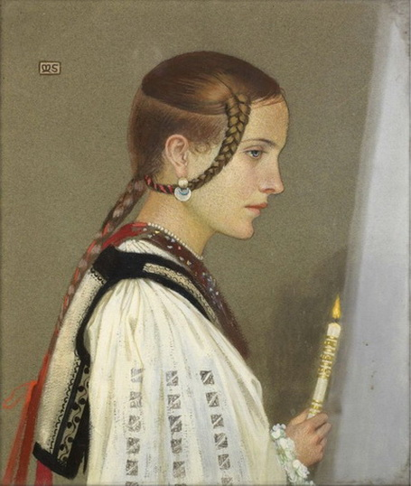 Marianne Stokes - A Rumanian Bridesmaid