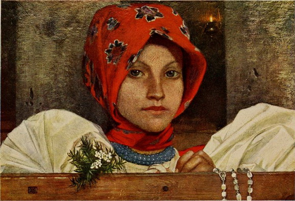 Marianne Stokes - In Church at Vazsecz