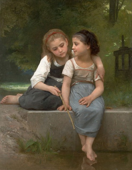 Bouguereau - Fishing For Frogs