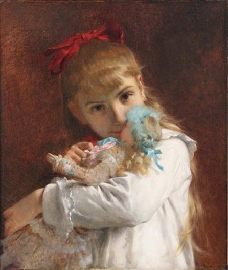 Pierre Auguste Cot - A New Doll