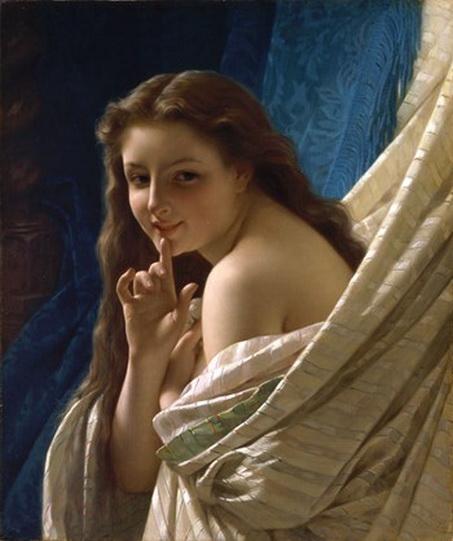 Pierre Auguste Cot - Portrait of a Young Woman