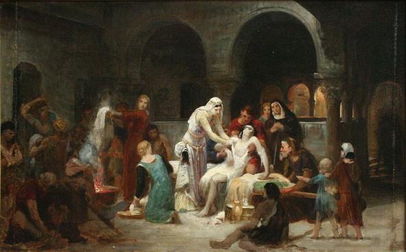 Pierre Auguste Cot - Sainte Elisabeth de Hongrie soignant les malades