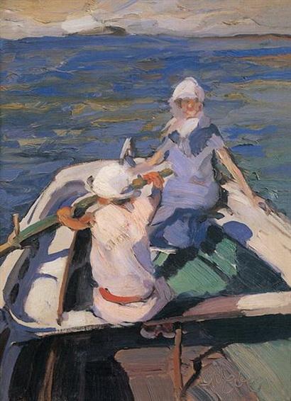 Nikiforos Lytras - in the boat