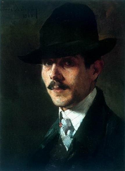 Nikiforos Lytras - Portrait of painter Oumvertos Argyros