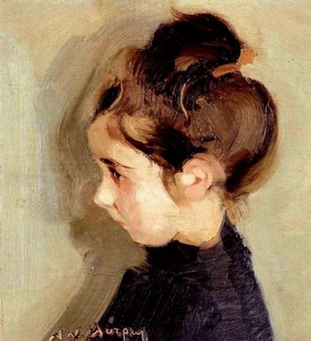 Nikiforos Lytras - portrait of a little girl