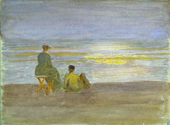 Thomas Pollock Anshutz - Man and Woman on the Beach