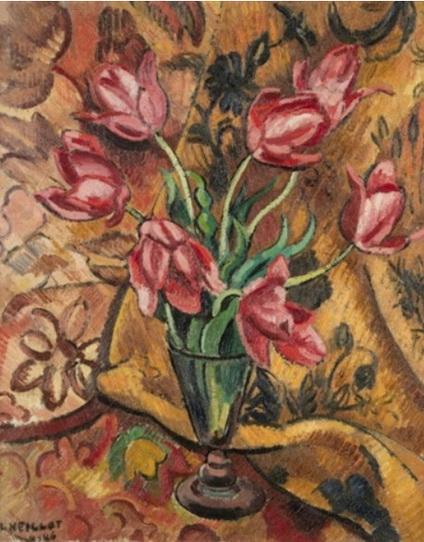 Louis Neillot - Vase de fleurs