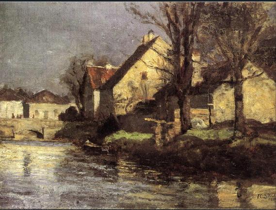 Theodore Clement Steele - Canal, Schlessheim