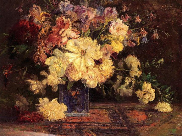 Theodore Clement Steele - Still Life with Peonies