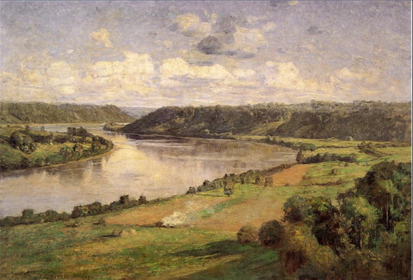 Theodore Clement Steele - the ohio river from the college campus
