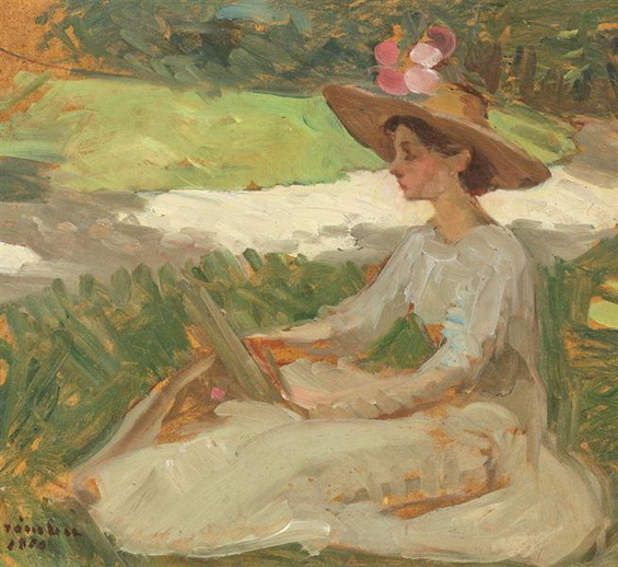 Ipolit Strambu - Reading in the Garden