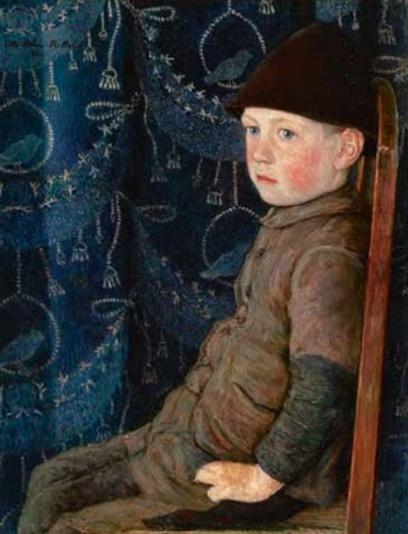 Otto Sohn-Rethel - Boy with hat on a chair