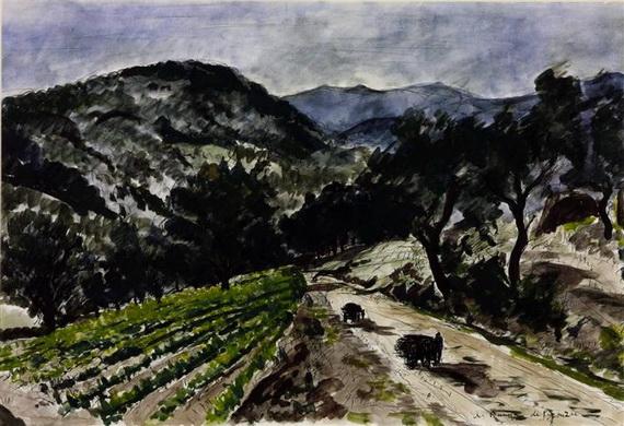 Andre Dunoyer de Segonzac - The Road from Grimaud