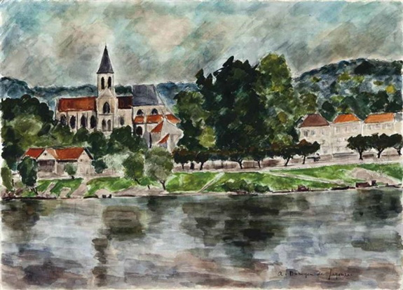 Andre Dunoyer de Segonzac - Seine sur la Triel