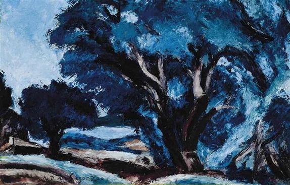 Andre Dunoyer de Segonzac - Paysage bleu