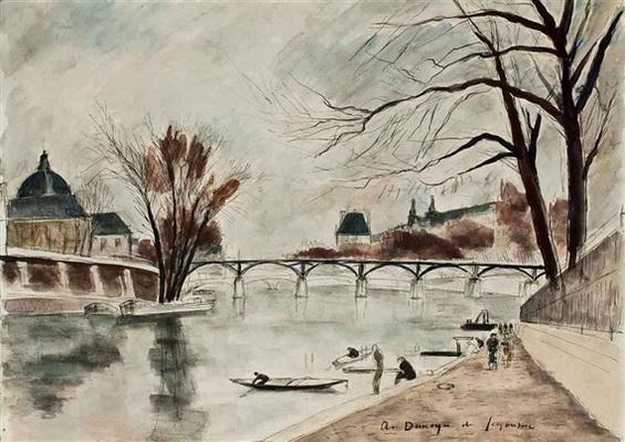 Andre Dunoyer de Segonzac - Le Pont des Arts, Paris