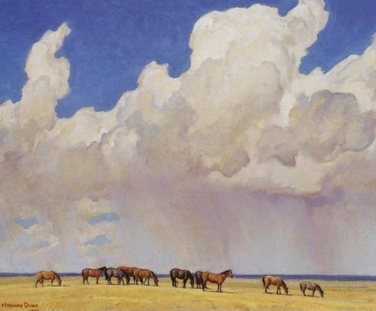 Maynard Dixon - Prairie Shower